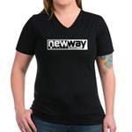 New Way Space Models Women's V-Neck Dark T-Shirt