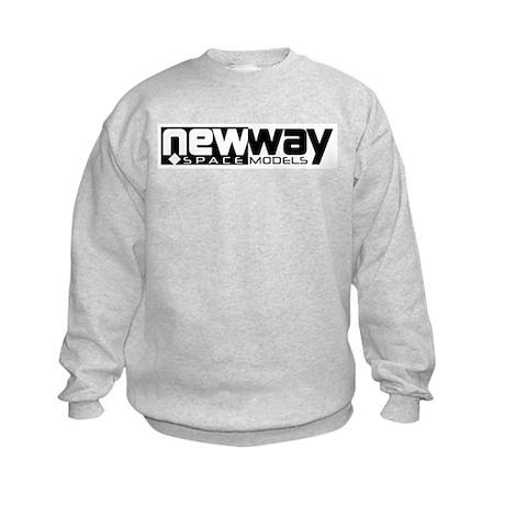 New Way Space Models Kids Sweatshirt