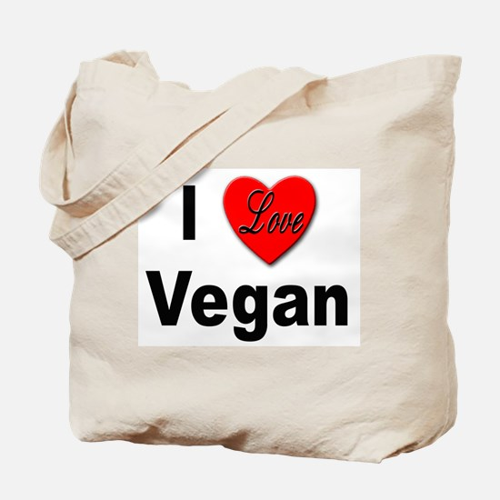 I Love Vegan Tote Bag