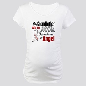 Angel 1 GRANDFATHER Lung Cancer Maternity T-Shirt