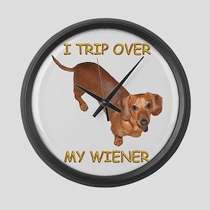 Trip Wiener Large Wall Clock