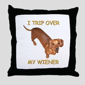 Trip Wiener Throw Pillow