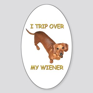 Trip Wiener Oval Sticker