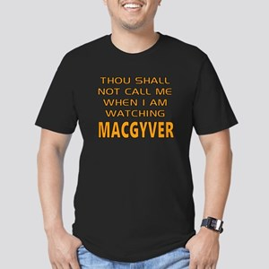 MacGyver Call Alert Men's Fitted T-Shirt (dark)
