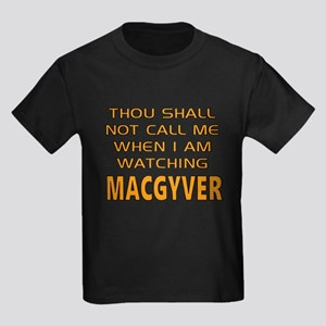 MacGyver Call Alert Kids Dark T-Shirt