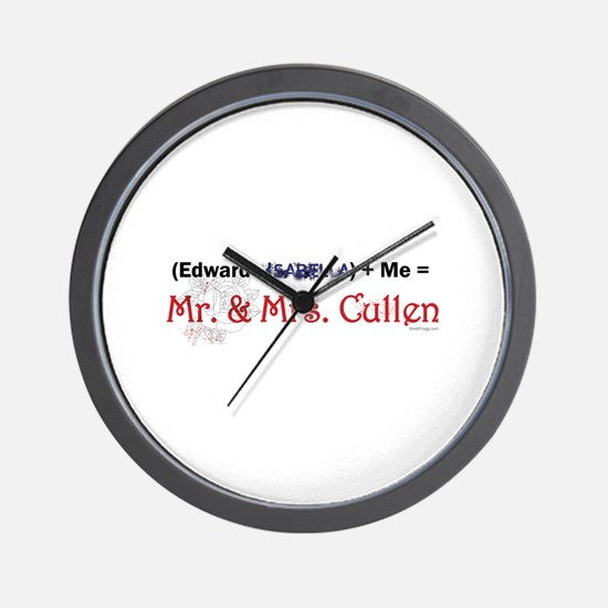 Twilight Mr. and Mrs. Cullen Wall Clock