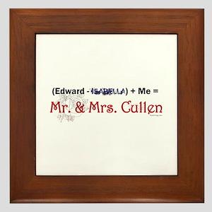 Twilight Mr. and Mrs. Cullen Framed Tile