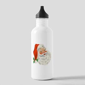 Vintage Santa Stainless Water Bottle 1.0L
