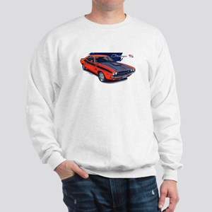 Dodge Challenger Orange Car Sweatshirt