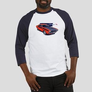Dodge Challenger Orange Car Baseball Jersey