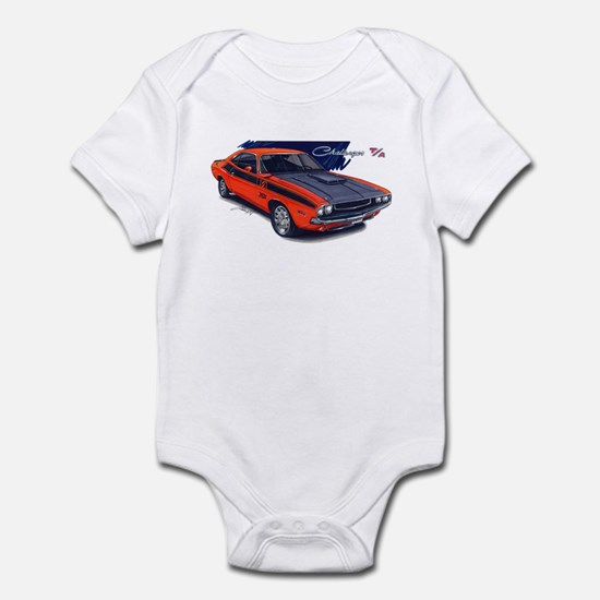 Dodge Challenger Orange Car Infant Bodysuit