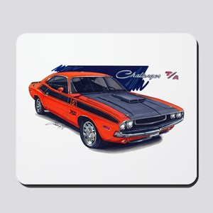 Dodge Challenger Orange Car Mousepad