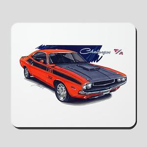 Dodge Challenger Orange Car Mousepad