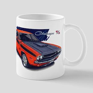 Dodge Challenger Orange Car Mug