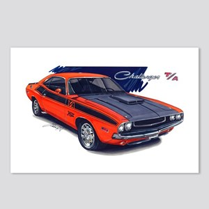 Dodge Challenger Orange Car Postcards (Package of