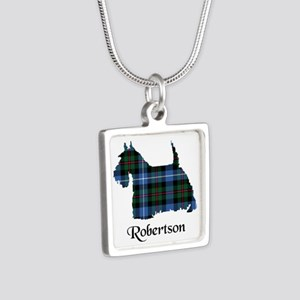 Terrier-Robertson hunting Silver Square Necklace