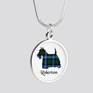 Terrier-Robertson hunting Silver Round Necklace