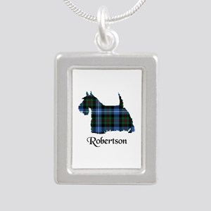 Terrier-Robertson huntin Silver Portrait Necklace