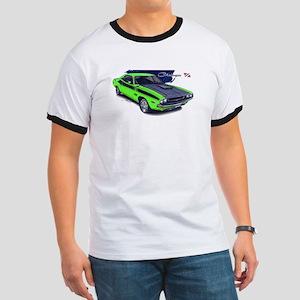 Dodge Challenger Green Car Ringer T