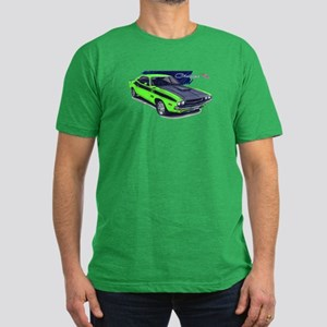 Dodge Challenger Green Car Men's Fitted T-Shirt (d