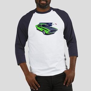 Dodge Challenger Green Car Baseball Jersey