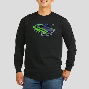 Dodge Challenger Green Car Long Sleeve Dark T-Shir