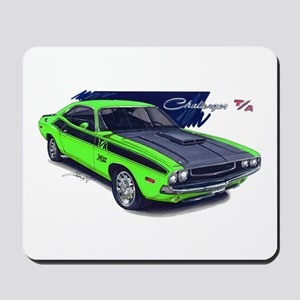 Dodge Challenger Green Car Mousepad