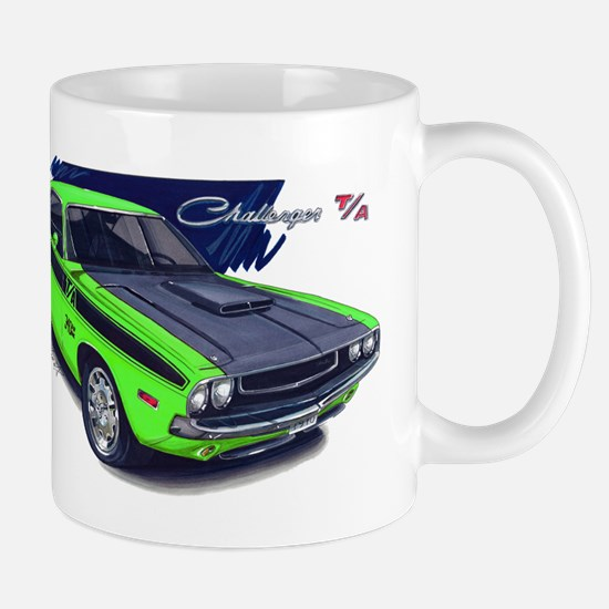 Dodge Challenger Green Car Mug