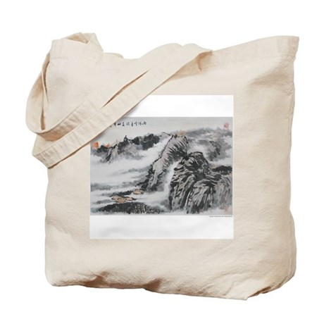 Chinese Painting - Tote Bag (translation on back)