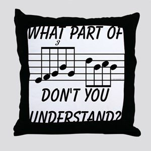 What Part Of Musical Notation Throw Pillow