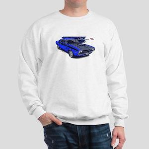 Dodge Challenger Blue Car Sweatshirt