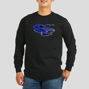 Dodge Challenger Blue Car Long Sleeve Dark T-Shirt