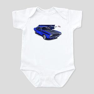 Dodge Challenger Blue Car Infant Bodysuit