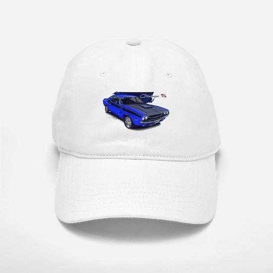 Dodge Challenger Blue Car Baseball Baseball Cap
