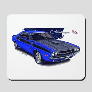 Dodge Challenger Blue Car Mousepad