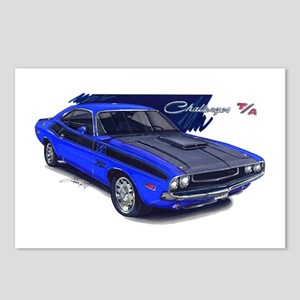 Dodge Challenger Blue Car Postcards (Package of 8)