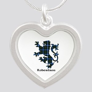 Lion-Robertson hunting Silver Heart Necklace