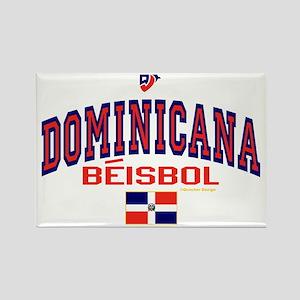 Dominicana Baseball Beisbol Rectangle Magnet