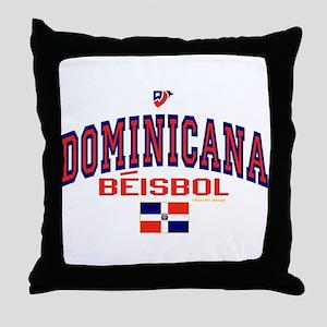 Dominicana Baseball Beisbol Throw Pillow