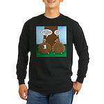 Turkey Dinner Long Sleeve Dark T-Shirt