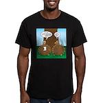 Turkey Dinner Men's Fitted T-Shirt (dark)