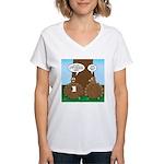 Turkey Dinner Women's V-Neck T-Shirt