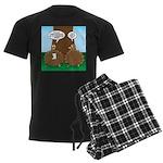 Turkey Dinner Men's Dark Pajamas