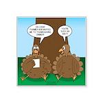Turkey Dinner Square Sticker 3