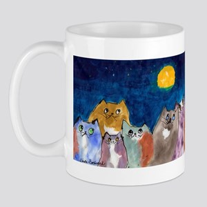 Moonviewing Cats 2 Mug