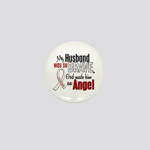 Angel 1 HUSBAND Lung Cancer Mini Button