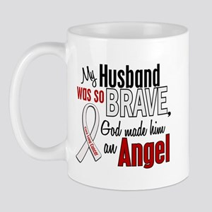 Angel 1 HUSBAND Lung Cancer Mug