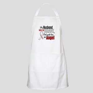 Angel 1 HUSBAND Lung Cancer BBQ Apron