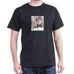 wolf pup and mother Black T-Shirt