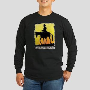 Real Men Ride Mules Long Sleeve Dark T-Shirt
